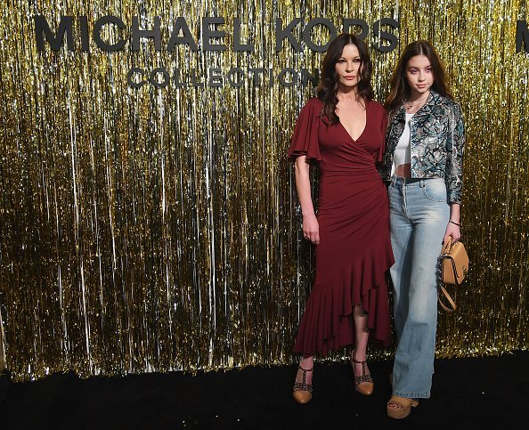 Catherine Zeta-Jones and Carys Zeta Douglas attend the Michael Kors Collection Fall 2019 Runway Show at Cipriani Wall Street in New York City | Photo: Getty Images