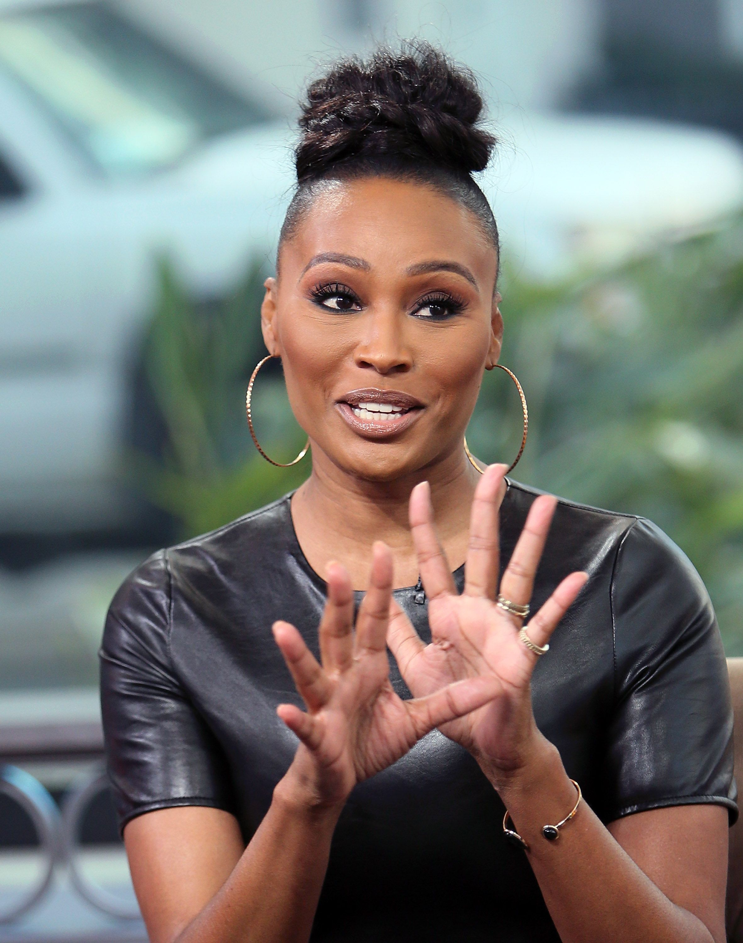 """Cynthia Bailey visits """"Hollywood Today Live"""" in California in 2017. 