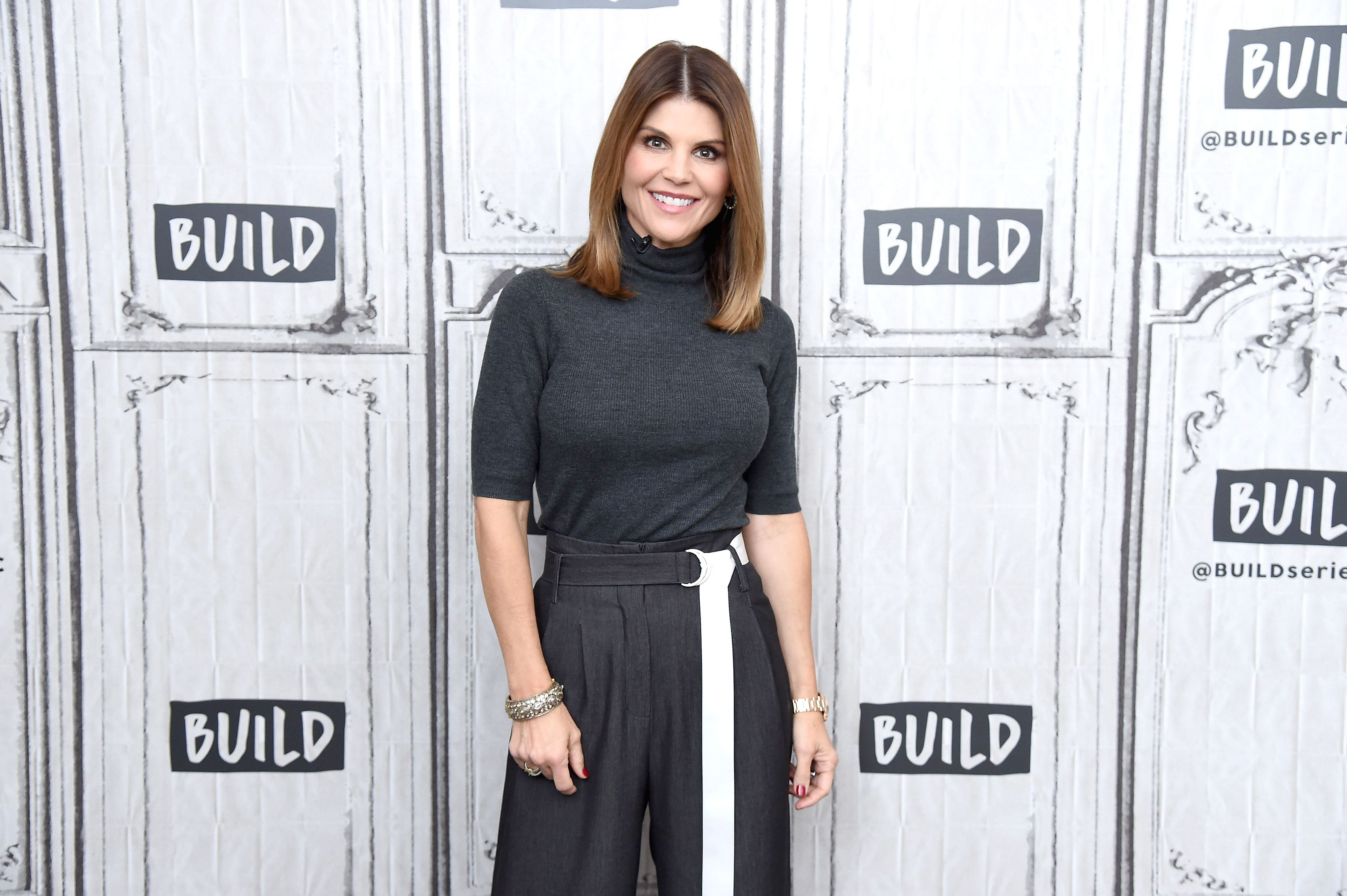 Actress Lori Loughlin at the Build Brunch to discuss the Hallmark Channel TV series 'When Calls the Heart' at Build Studio on February 14, 2019 | Photo: Getty Images