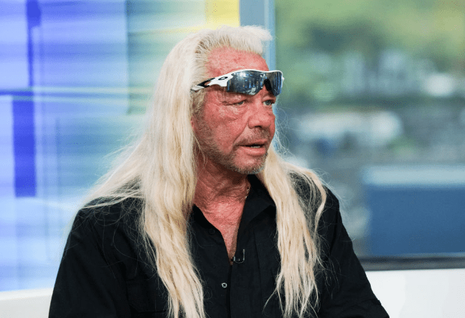 """TV personality Duane Chapman aka Dog the Bounty Hunter visits """"FOX & Friends"""" at FOX Studios on August 28, 2019 in New York City. 