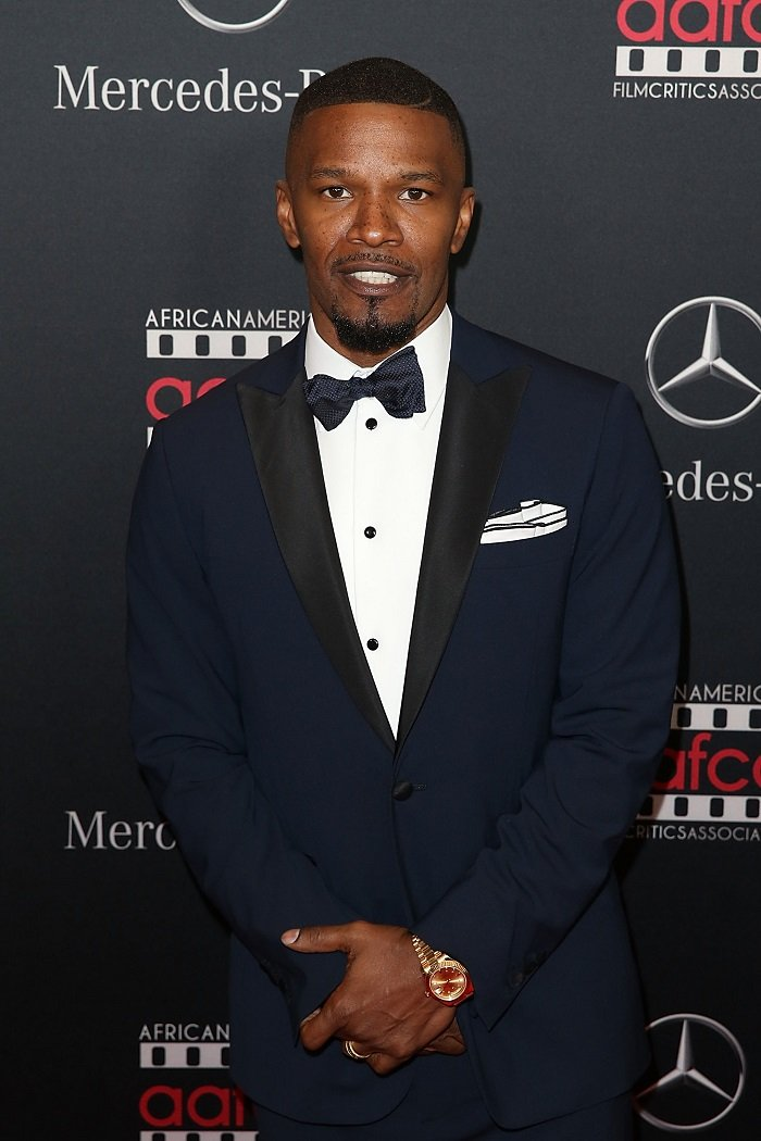 Jamie Foxx arrives at the Mercedes-Benz and African American Film Critics Association Oscar viewing party at Four Seasons Hotel Beverly Hills on February 28, 2016 in Los Angeles, California. I Image: Getty Images