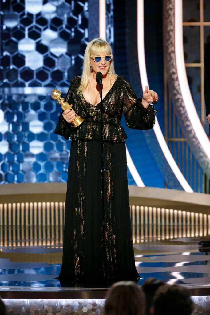 Patricia Arquette accepts an Award at the 77th Golden Globe Awards at the Beverly Hilton Hotel on January 5, 2020   Photo: Getty Images