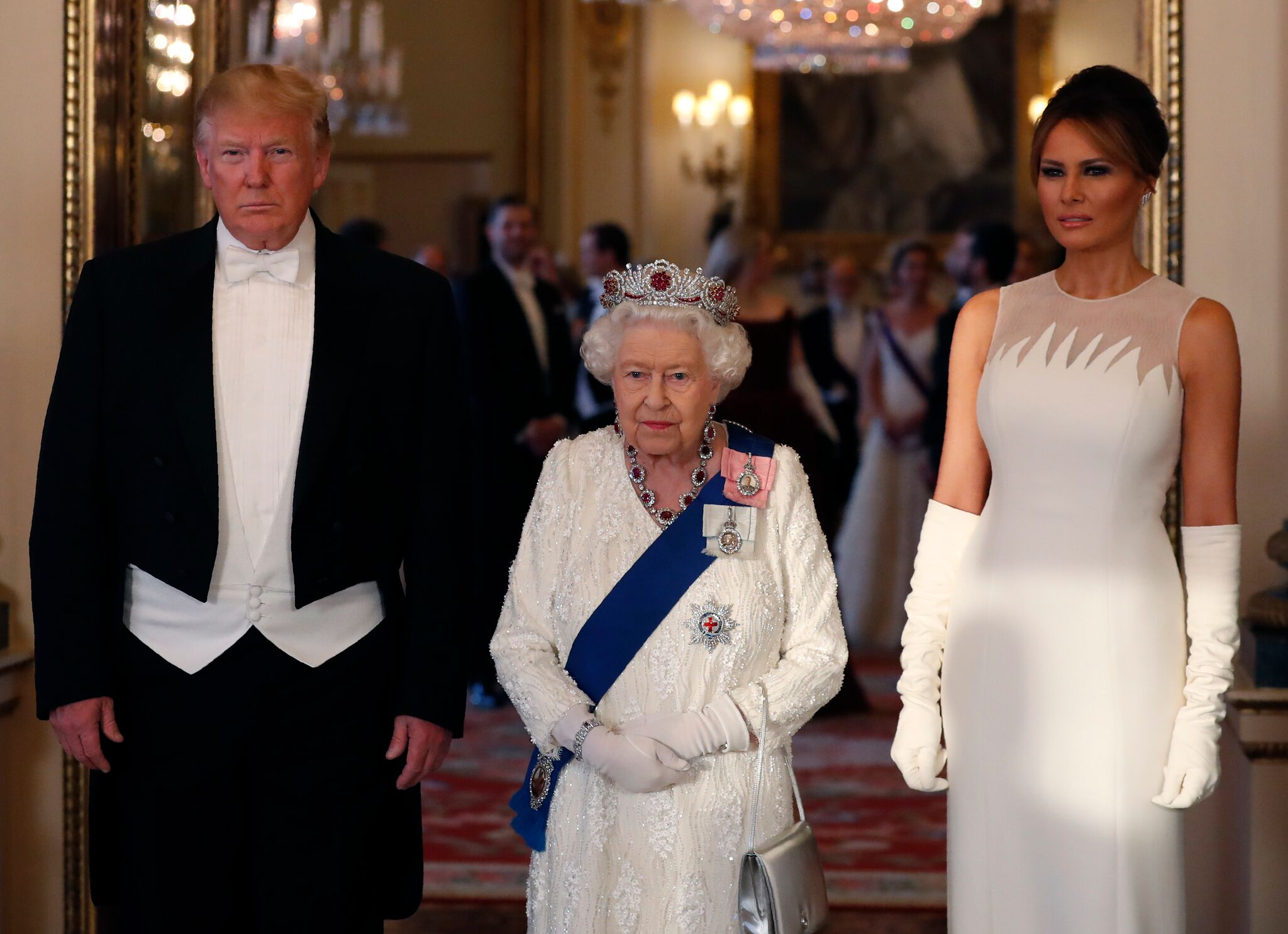 The Trumps meet the Queen during a state visit to the UK | Getty Images