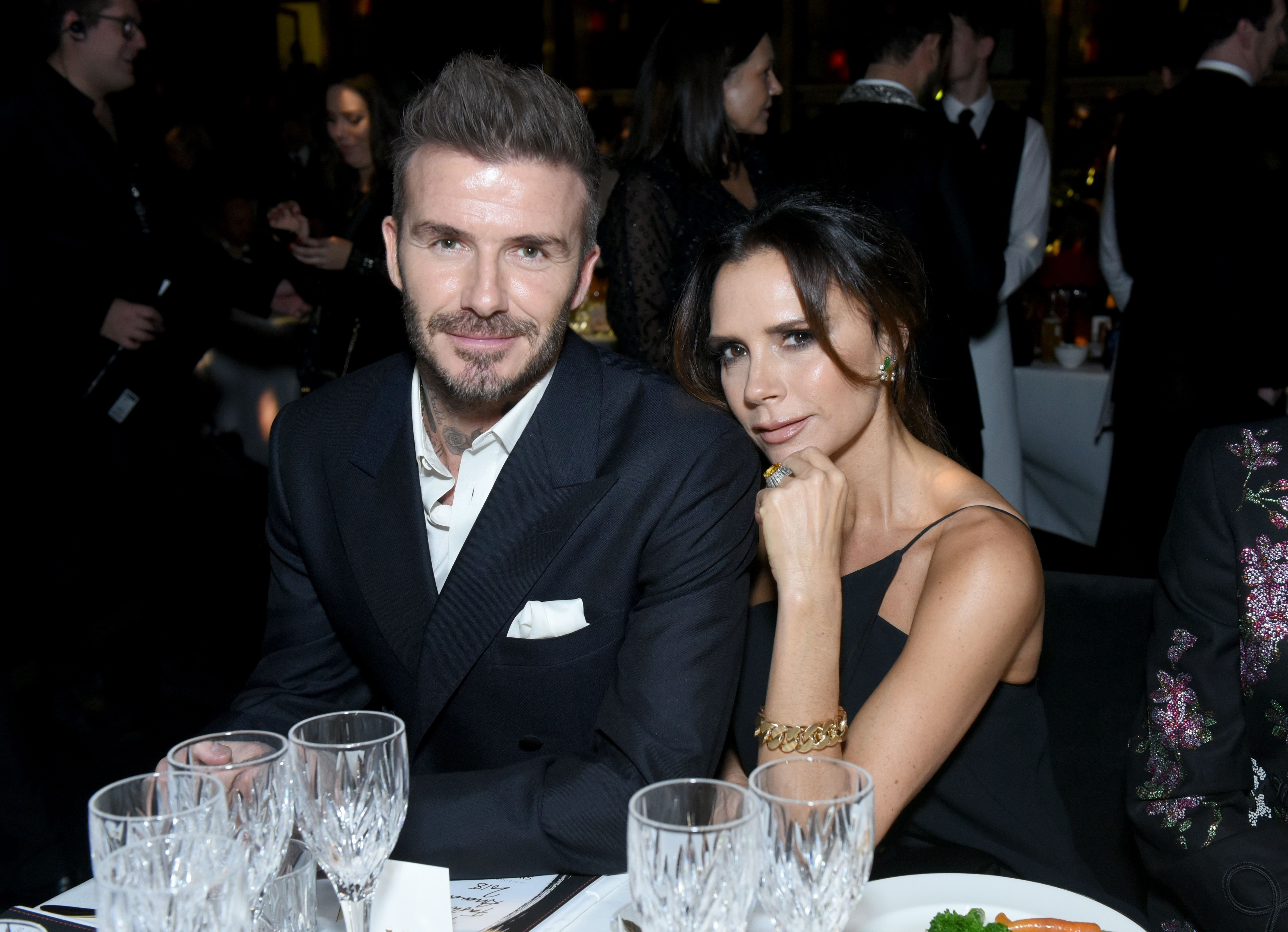 David Beckham and Victoria Beckham attend The Fashion Awards 2018 In Partnership With Swarovski at Royal Albert Hall on December 10, 2018 in London, England. | Source: Getty Images