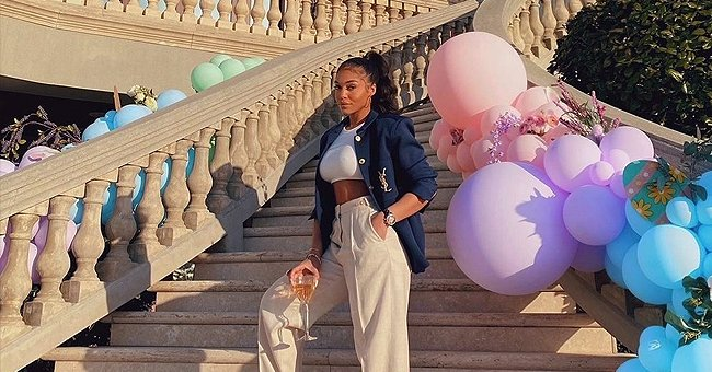 Lori Harvey Looks Stylish Celebrating Easter at Her Parents' Home in a YSL Jacket & Crop Top