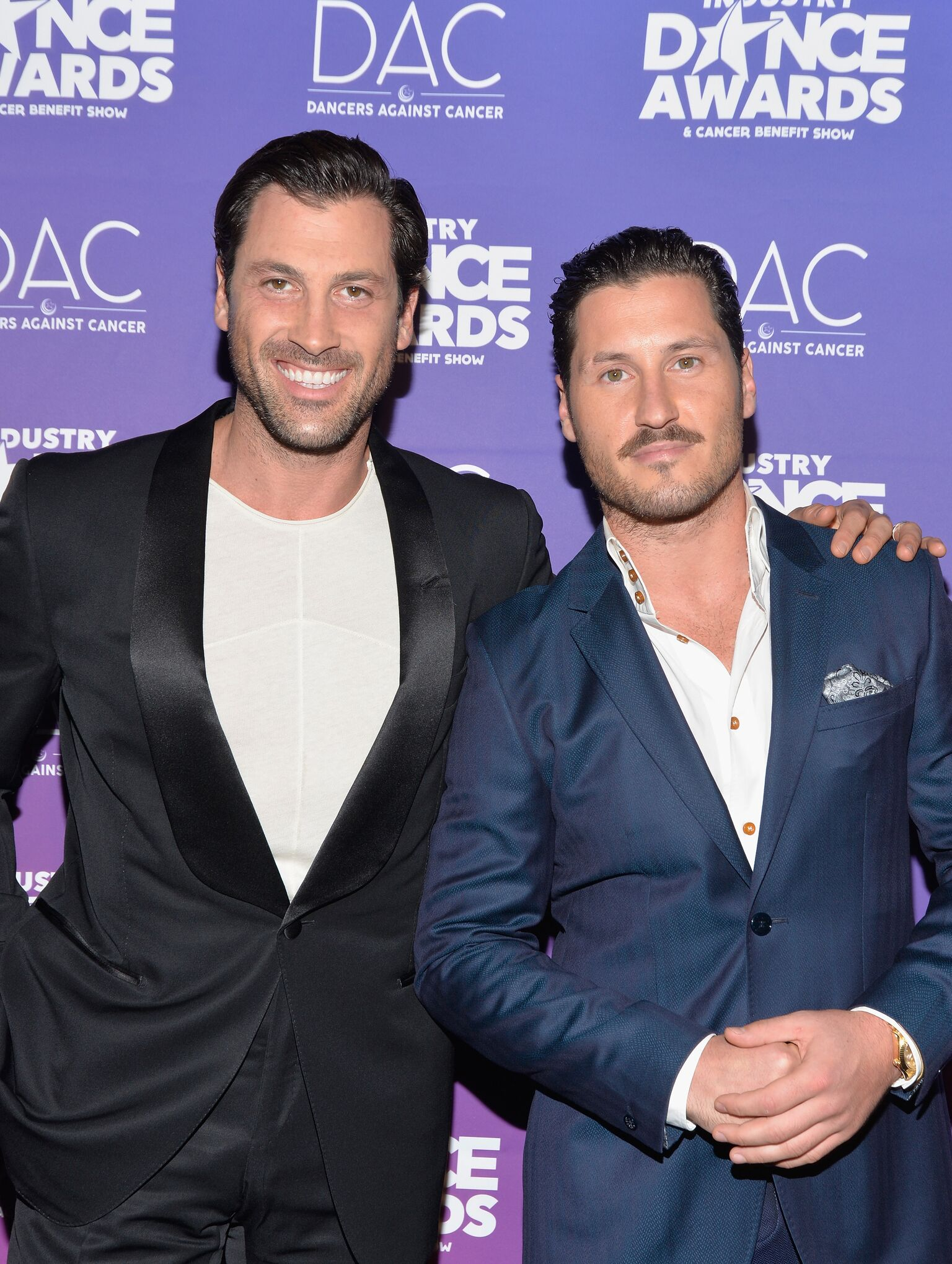 rofessional dancers Maksim Chmerkovskiy and Val Chmerkovskiy attend the 2017 Industry Dance Awards and Cancer Benefit Show | Getty Images / Global Images Ukraine