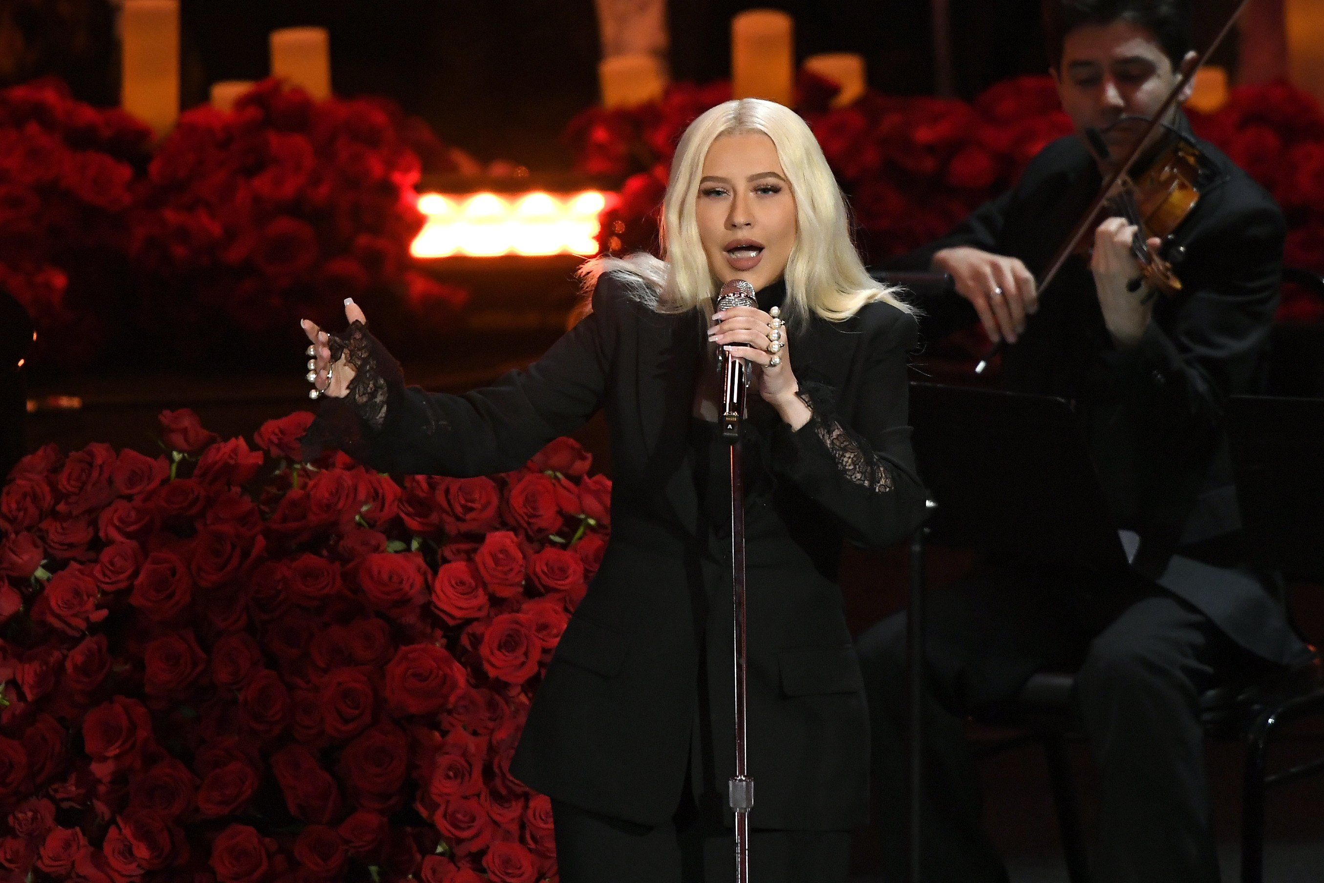 Christina Aguilera performs during The Celebration of Life for Kobe & Gianna Bryant at Staples Center on February 24, 2020 | Photo: Getty Images