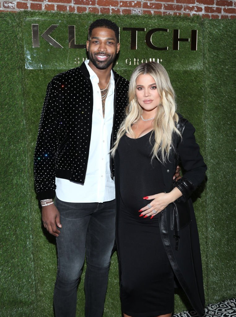 "Tristan Thompson and Khloe Kardashian at the Klutch Sports Group ""More Than A Game"" Dinner on February 17, 2018. 