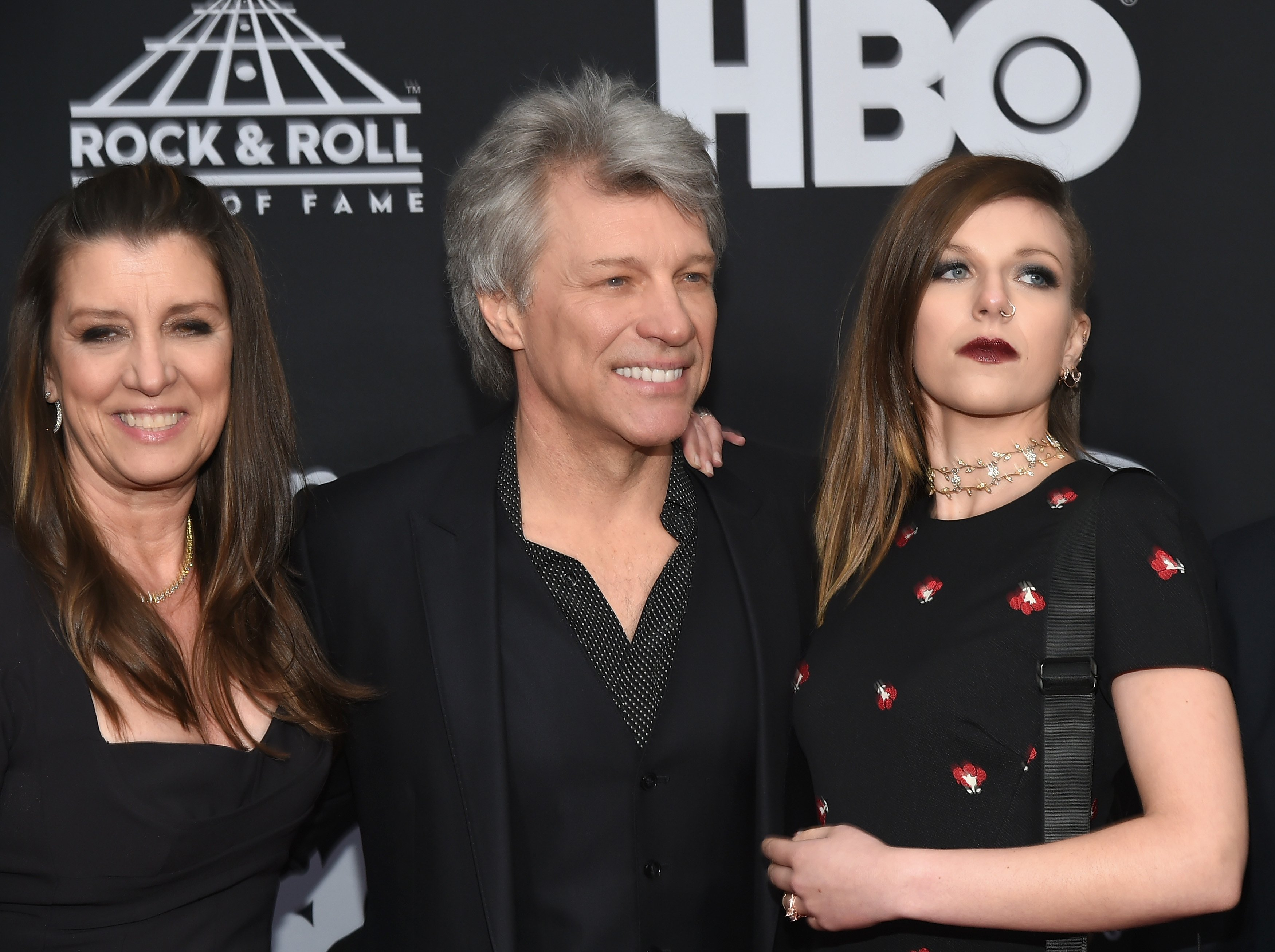 Dorothea Hurley, Jon Bon Jovi and Stephanie Rose Bongiovi at the 33rd Annual Rock & Roll Hall of Fame Induction Ceremony. | Source: Getty Images