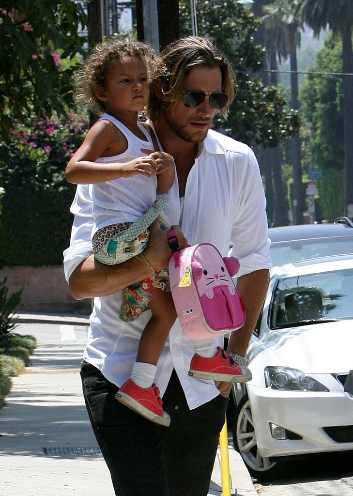 Halle Berry's ex-husband Gabriel Aubry with their daughter Nahla on August 15, 2011 | Source: Getty Images/GlobalImagesUkraine