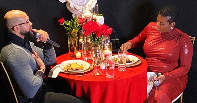 Pregnant Fantasia Barrino Stuns in Latex Dress as She Enjoys Romantic Dinner with Husband