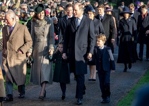 : Catherine, Duchess of Cambridge and Prince William, Duke of Cambridge with Prince George of Cambridge and Princess Charlotte of Cambridge attend the Christmas Day Church service at Church of St Mary Magdalene on the Sandringham estate on December 25, 2019 in King's Lynn, United Kingdom | Photo: Getty Images