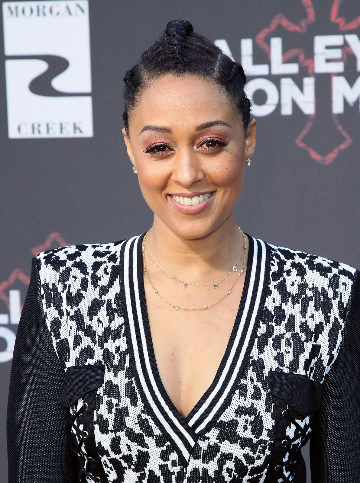 "Actress Tia Mowry attends the premiere of Lionsgate's ""All Eyez On Me"" on June 14, 2017 