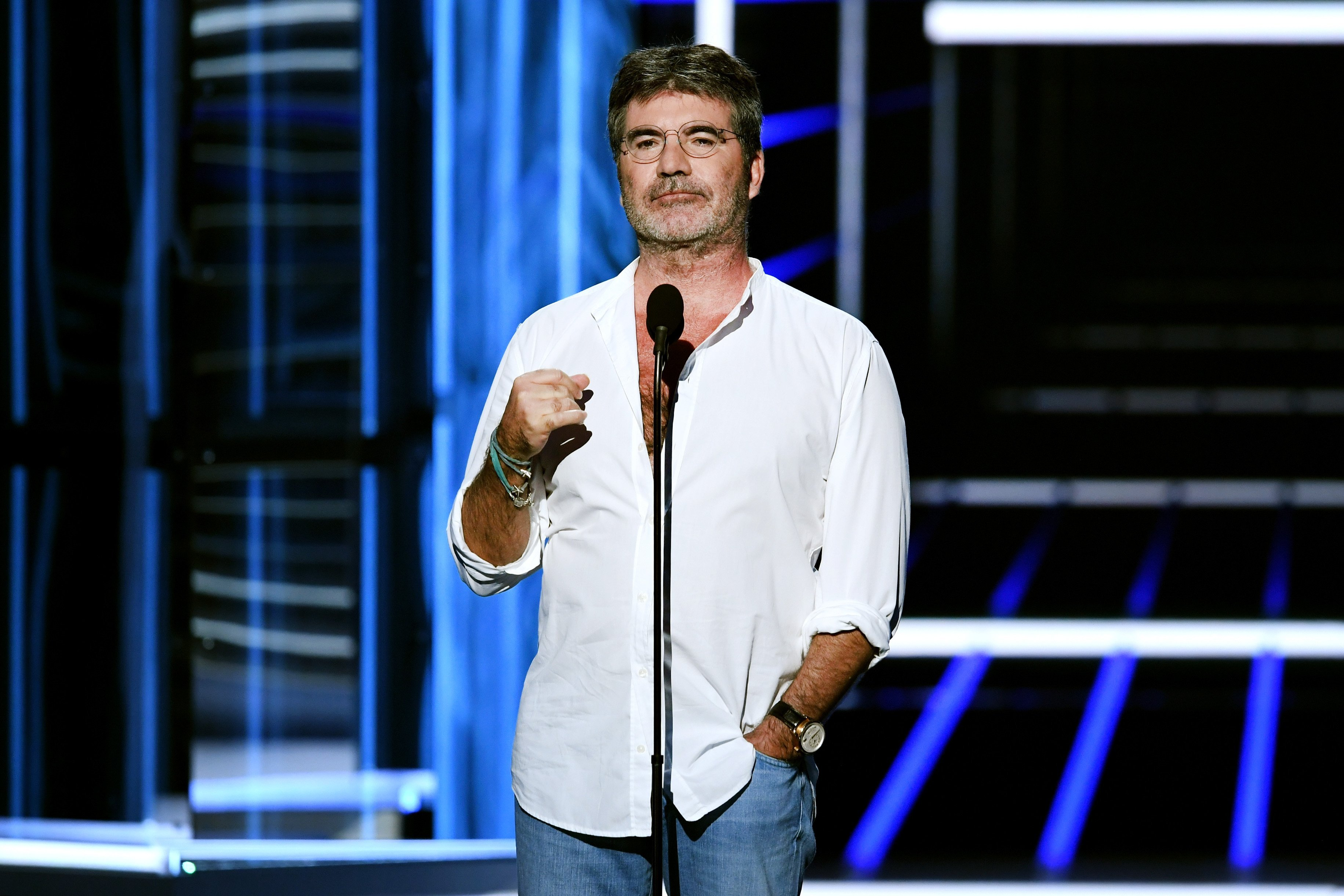 Simon Cowell speaks onstage during the 2018 Billboard Music Awards at MGM Grand Garden Arena on May 20, 2018 | Photo: GettyImages
