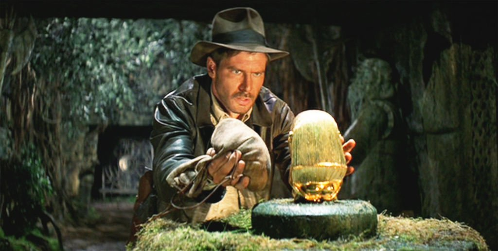 Harrison Ford as Indiana Jones with the initial theatrical release on June 12, 1981   Photo: Getty Images