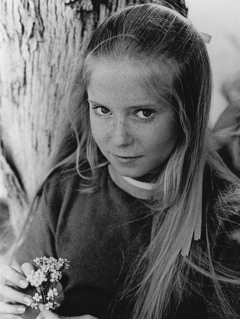 "Eve Plumb as Jan Brady on the set of the 1970s sitcom ""The Brady Bunch"" 