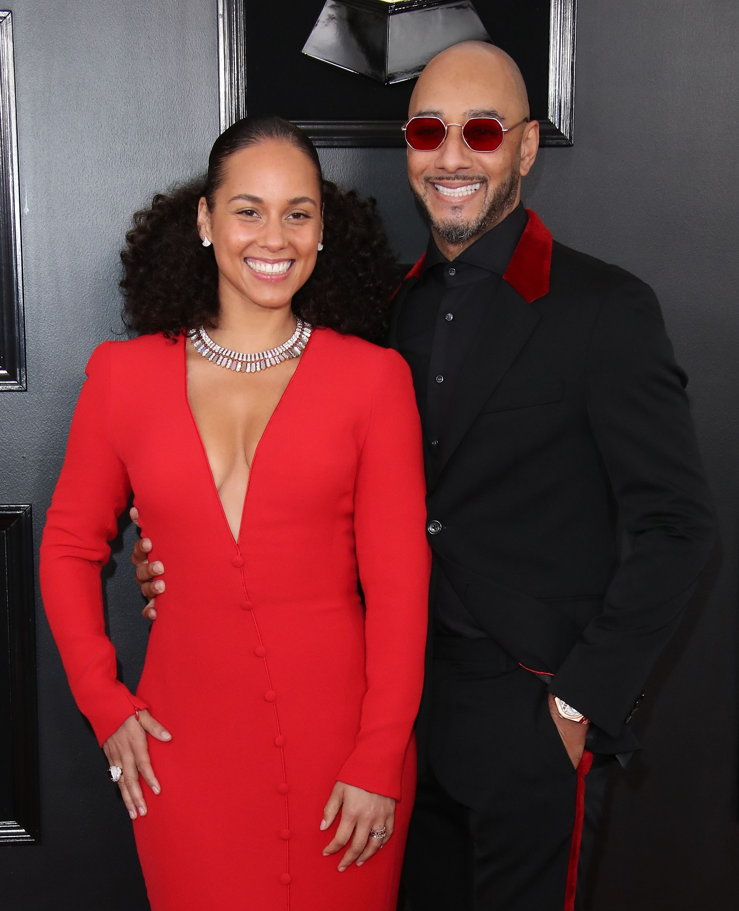 Alicia Keys and Swizz Beatz at the 61st Annual Grammy Awards at Staples Center on February 10, 2019   Photo: Getty Images