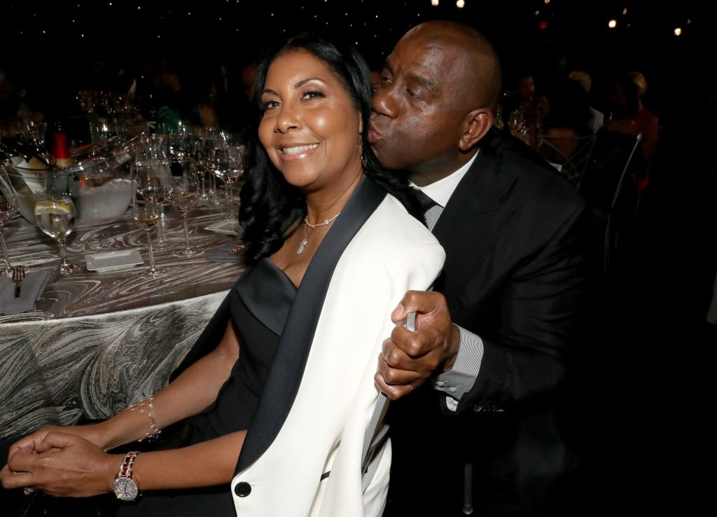 Cookie Johnson and Magic Johnson attend the 2019 NBA Awards presented by Kia on TNT  | Getty Images / Global Images Ukraine