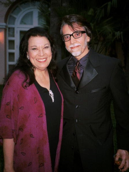 Shelly Morrison and her husband Walter Dominguez attends the Don Francisco gala June 8, 2001, in Beverly Hills, CA. | Source: Getty Images.