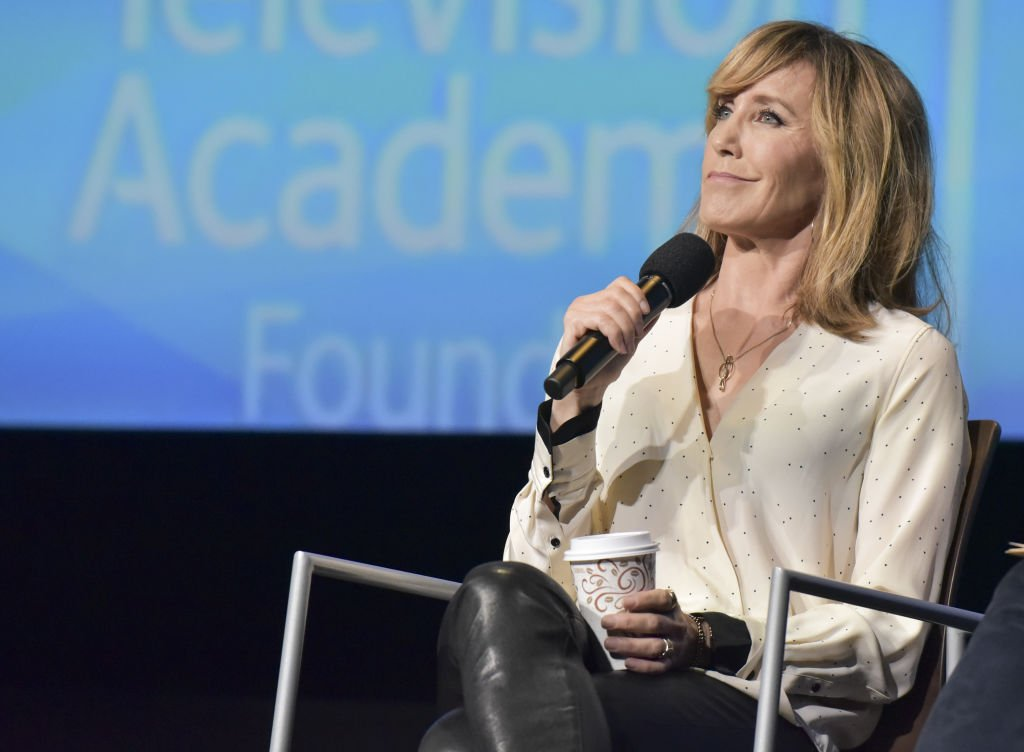 Actress Felicity Huffman speaks onstage at the Women in Entertainment and The Television Academy Foundation's Inaugural Women in Television Summit at Saban Media Center | Photo: Getty Images