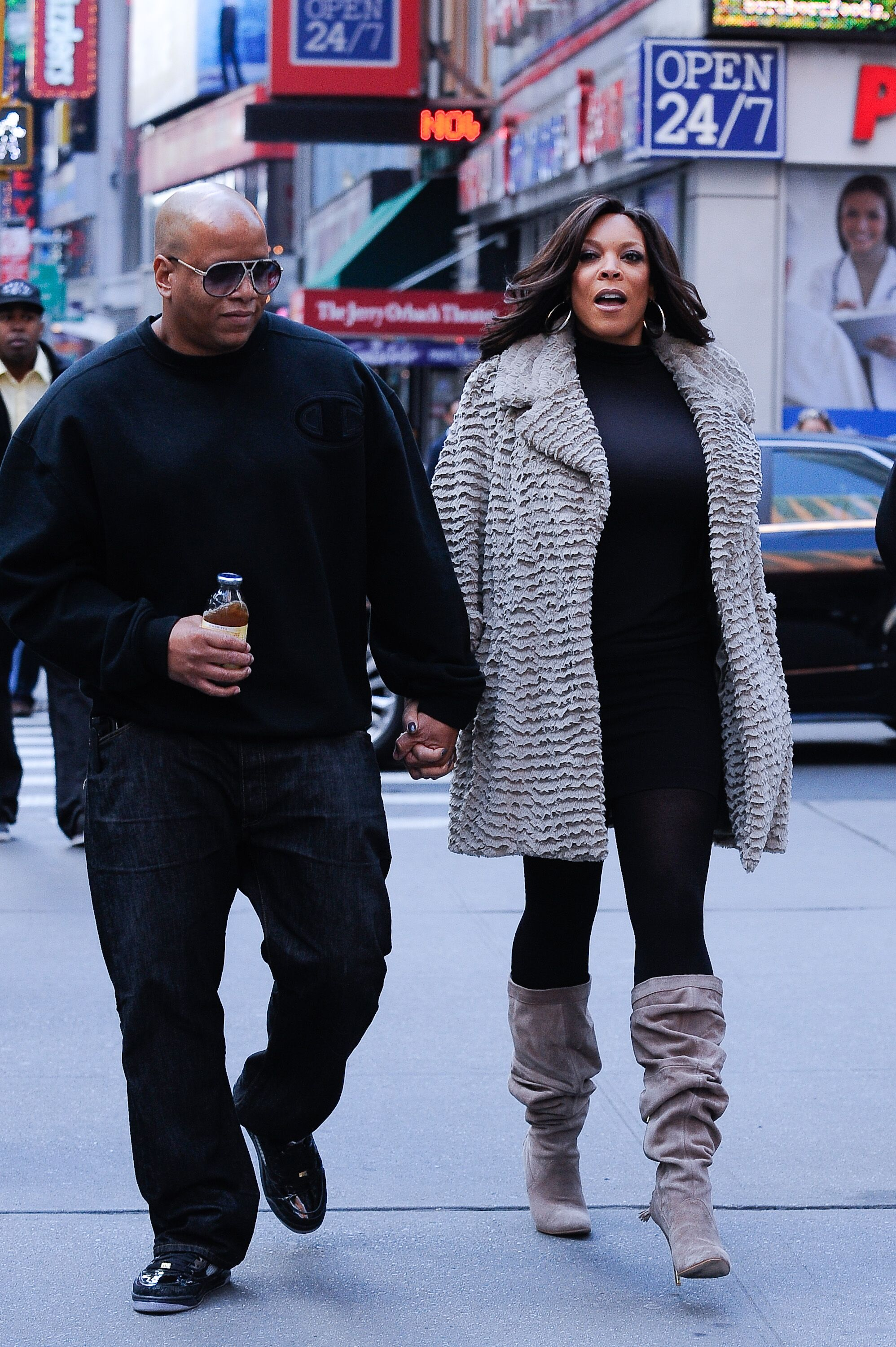 Wendy Williams and estranged husband Kevin Hunter in New York in 2010/ Source: Getty Images