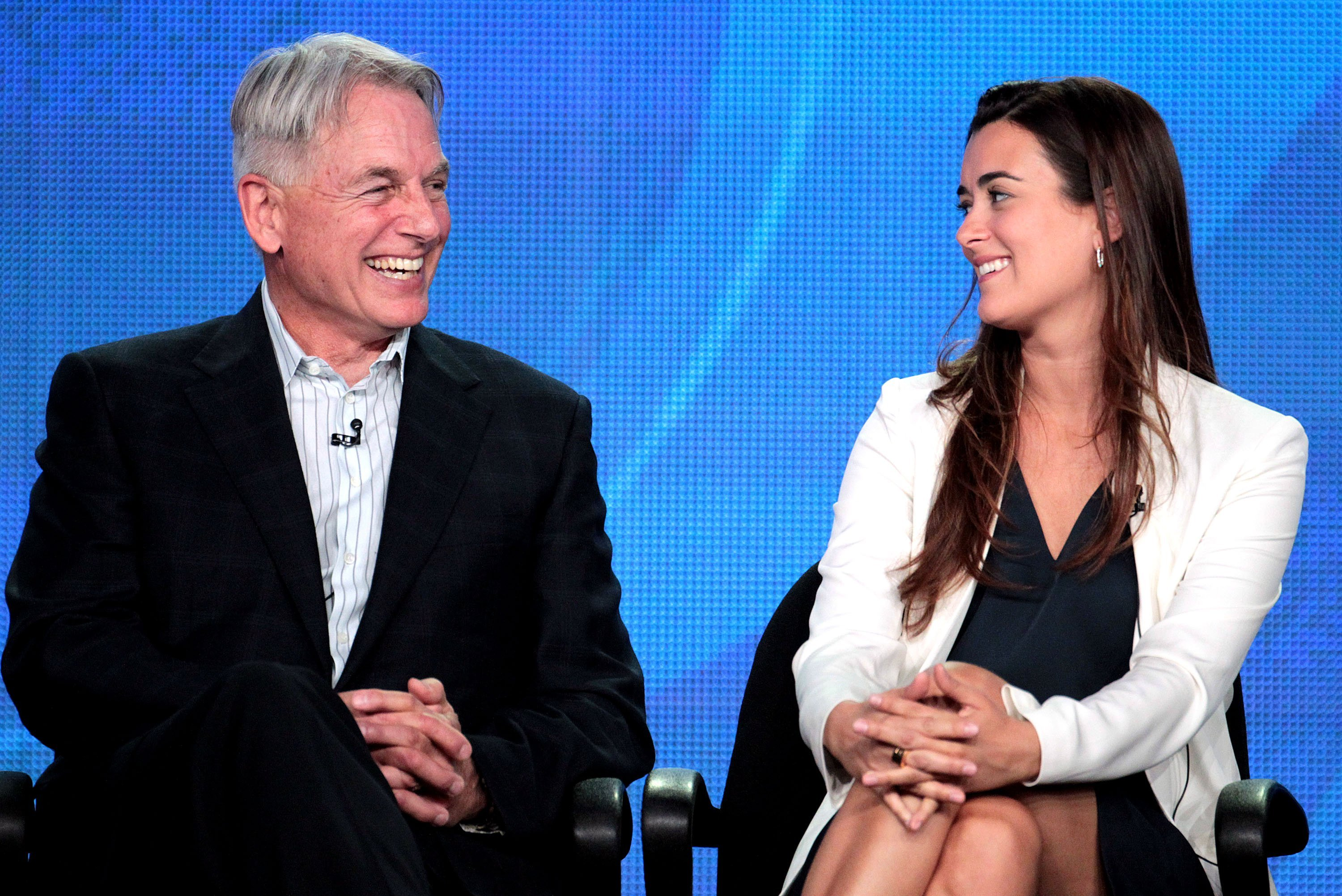 Mark Harmon and Cote de Pablo on January 11, 2012 in Pasadena, California | Source: Getty Images
