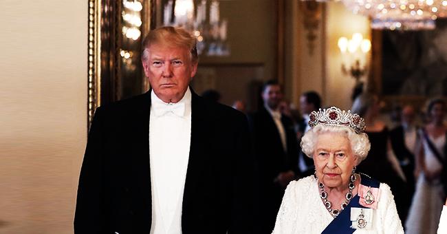Reina Elizabeth II usó una tiara que simboliza 'protección contra el mal' en su cena con Trump
