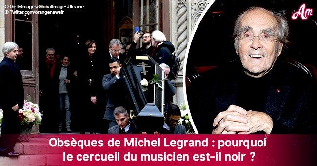 Le mystère sur le cercueil noir, choisi pour les funérailles de Michel Legrand