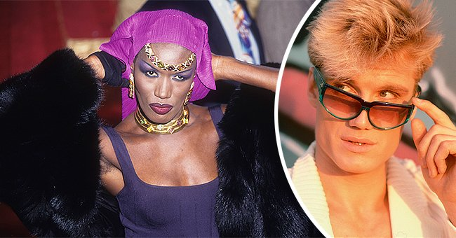 Jamaican singer and actress Grace Jones and her white boyfriend, Dolph Lundgren. | Photo: Getty Images