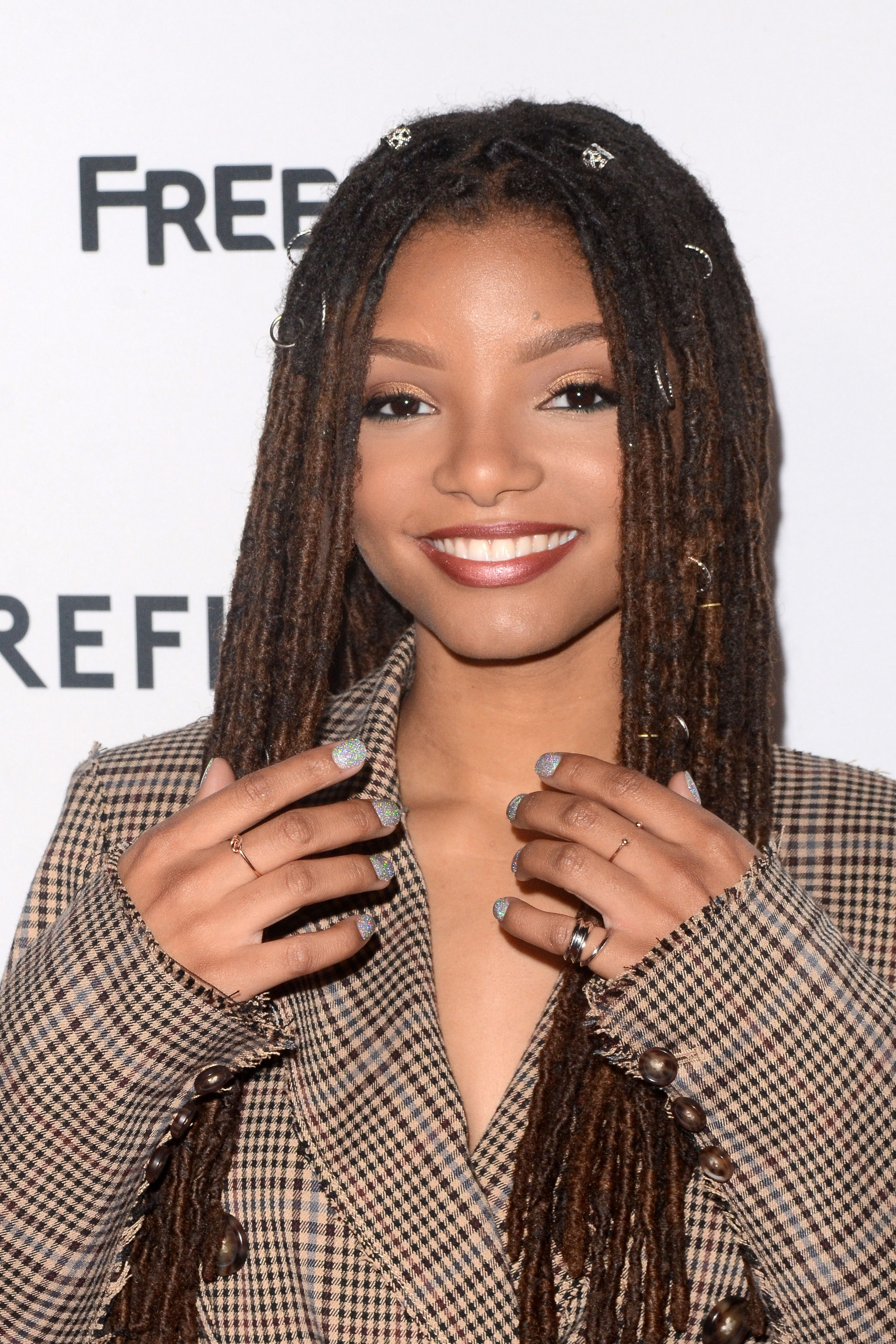 """Halle Bailey at the """"Grown-ish"""" premiere screening on December 13, 2017 in Hollywood. 