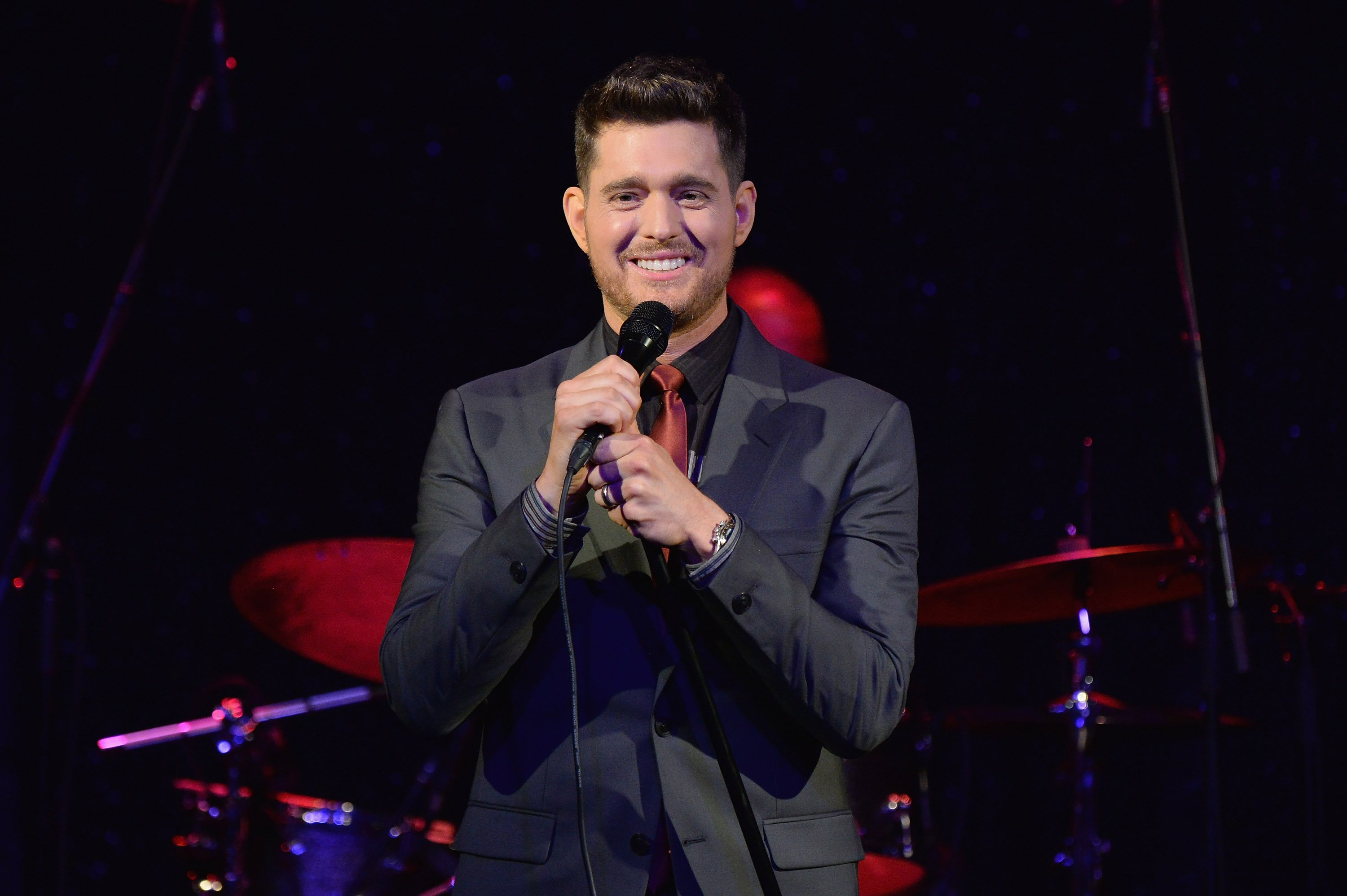 Michael Buble performs at his By Invitation Fragrance launch on August 24, 2016, in New York City. | Source: Getty Images.