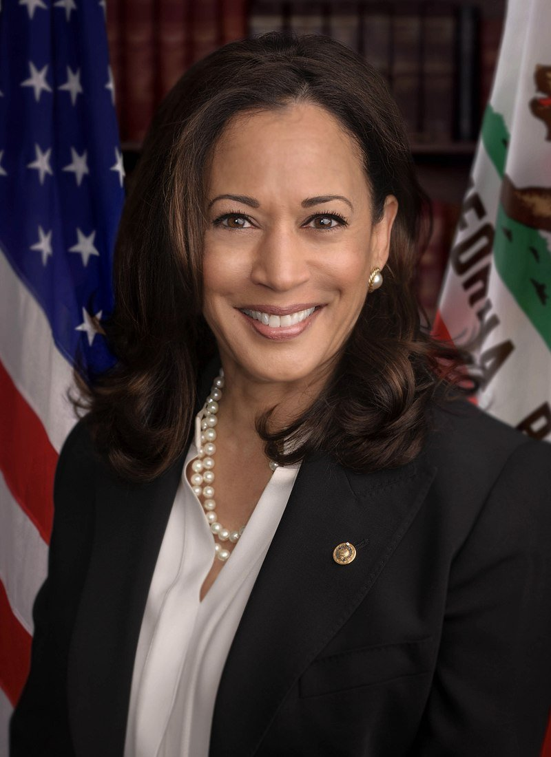 Kamala Harris, the Democratic Presidential candidate from California | Wikicommons
