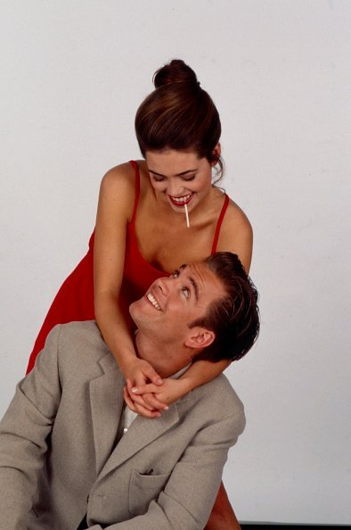 """Amelia Heinle, Michael Weatherly on the Walt Disney Television's soap opera """"Loving"""" 
