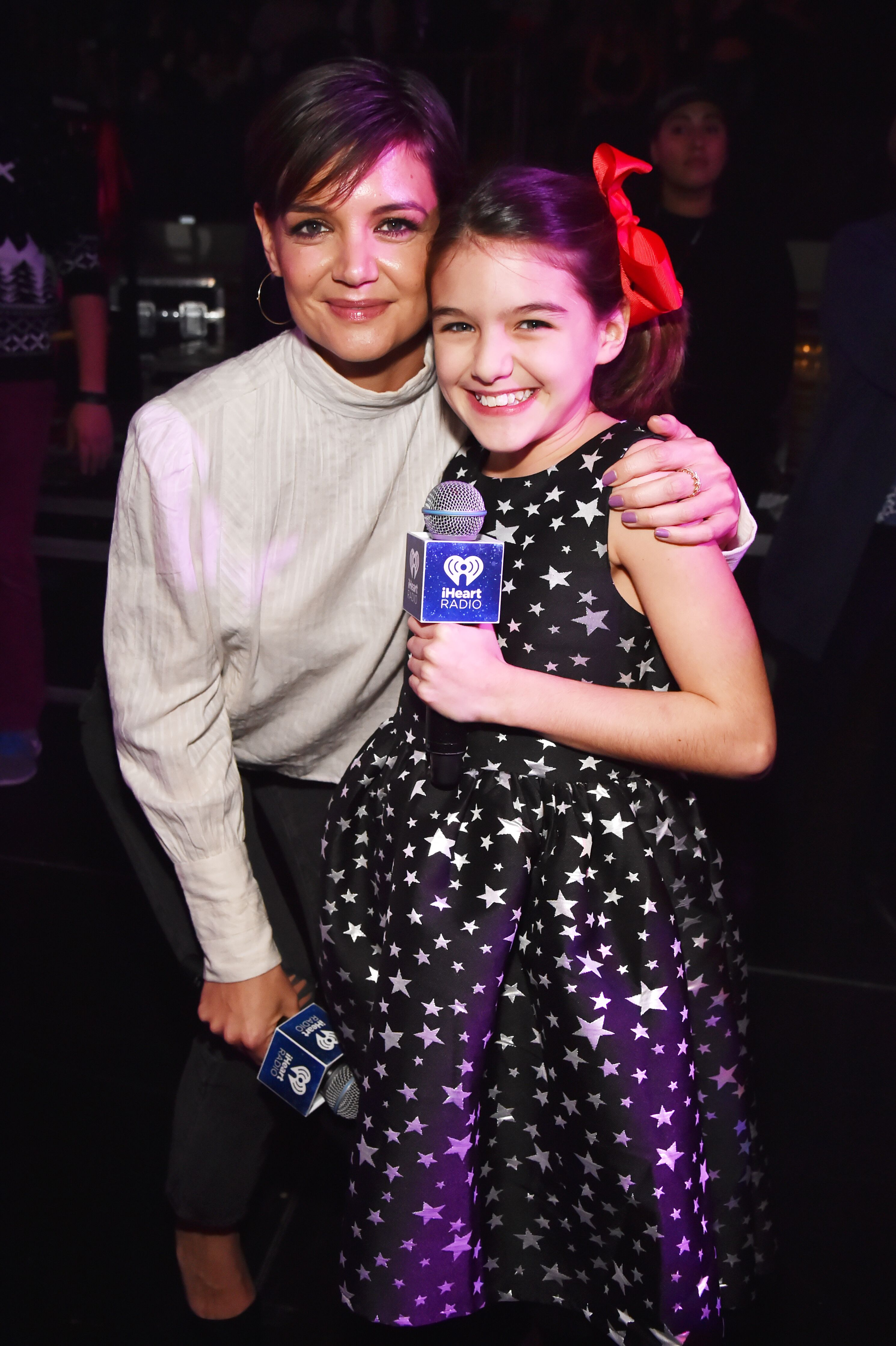 Katie Holmes and Suri Cruise attend the Z100's Jingle Ball 2017 on December 8, 2017 in New York City | Photo: Getty Images
