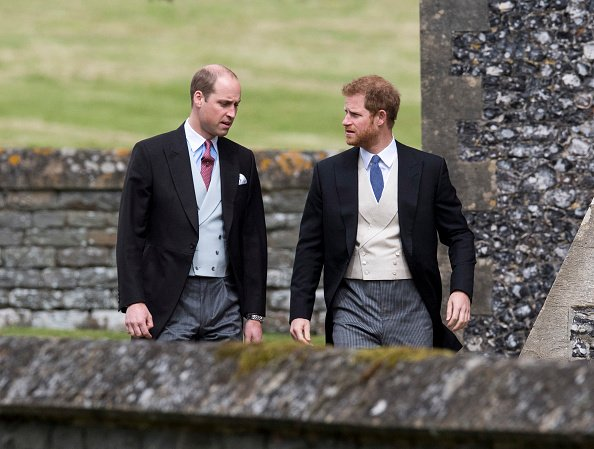 Prince William and Prince Harry arrive for the wedding ceremony of Pippa Middleton at St Mark's Church on May 20, 2017 in Englefield Green, England   Photo: Getty Images