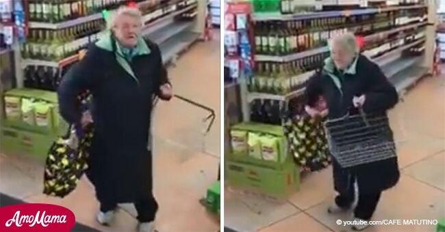 Adorable baile de abuela que escuchó su canción favorita en el supermercado fue captado en vídeo