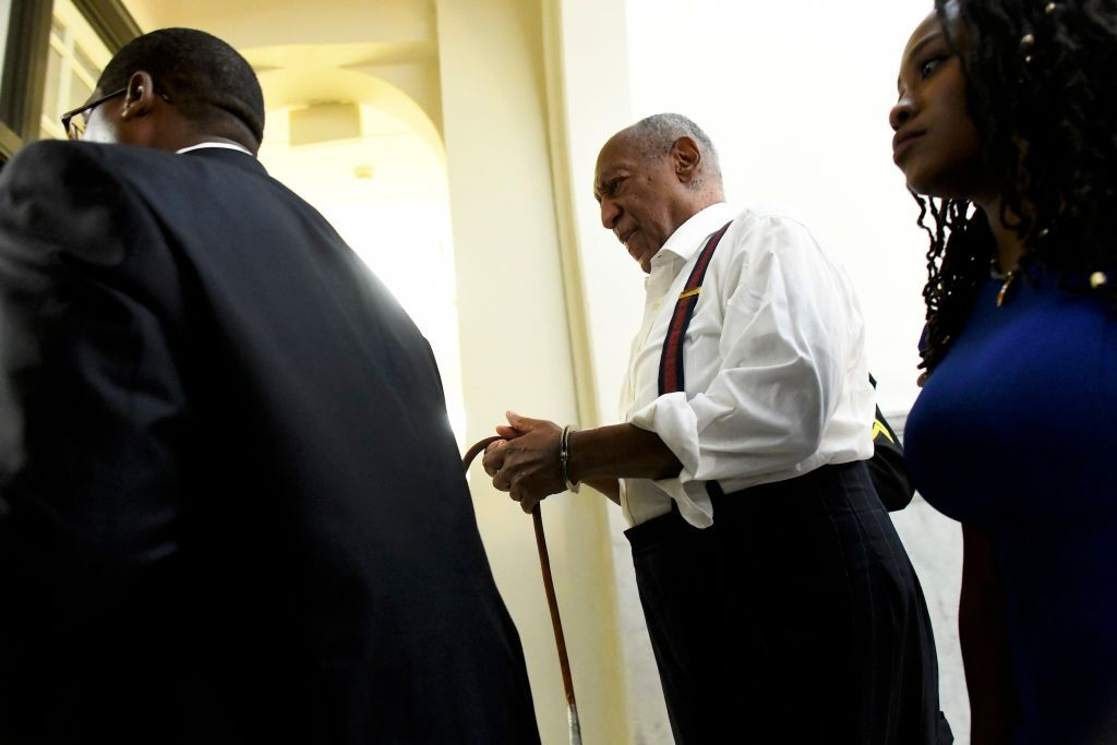 Bill Cosby in handcuffs after his prison sentencing   Source: Getty Images