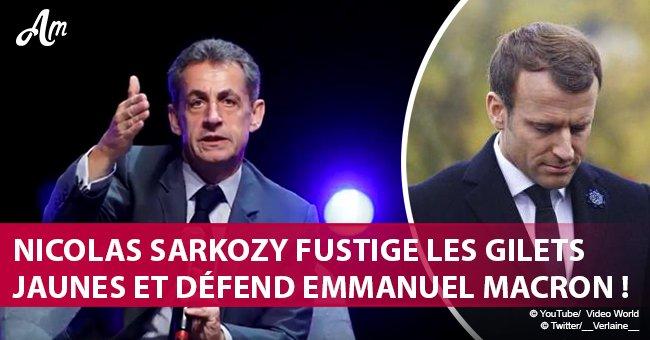 """""""Nous sommes à l'arrêt"""": Nicolas Sarkozy défend Emmanuel Macron et fustige les gilets jaunes"""