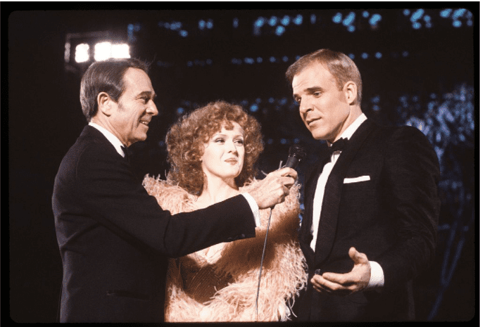 Bernadette Peters and Steve Martin during the 53rd annual academy awards in March, 1981.| Source: Getty Images