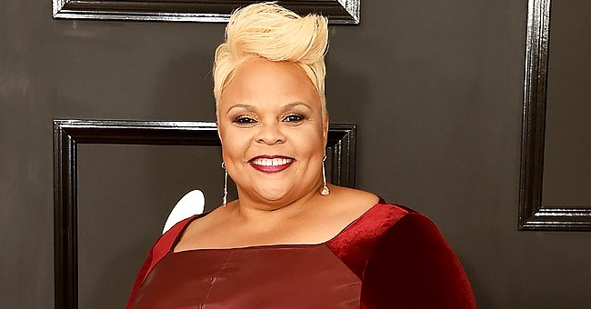 Tamela Mann's Daughter Tia Puts Her Curvy Figure on Display Posing in a Tight Black Outfit