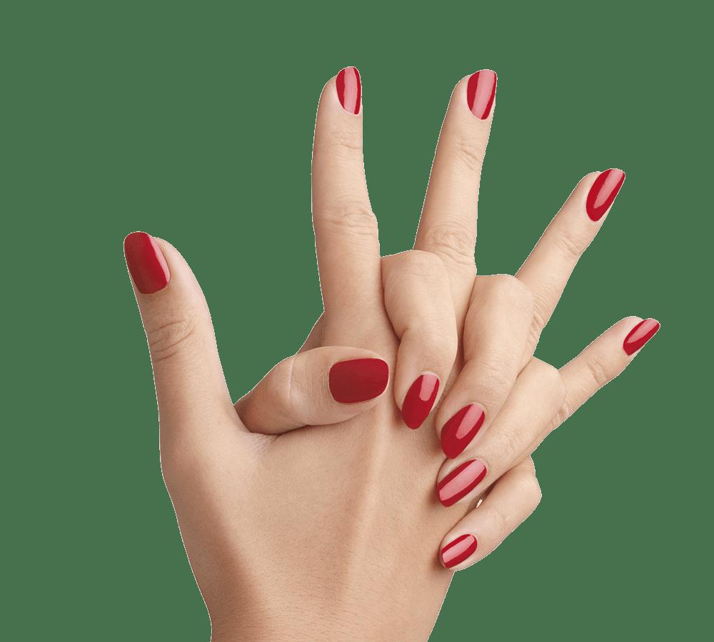 Uñas pintadas de rojo   Foto: Pngimg