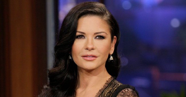 Catherine Zeta-Jones Hangs Out with Handsome Co-star on Film Set In a Throwback Snap