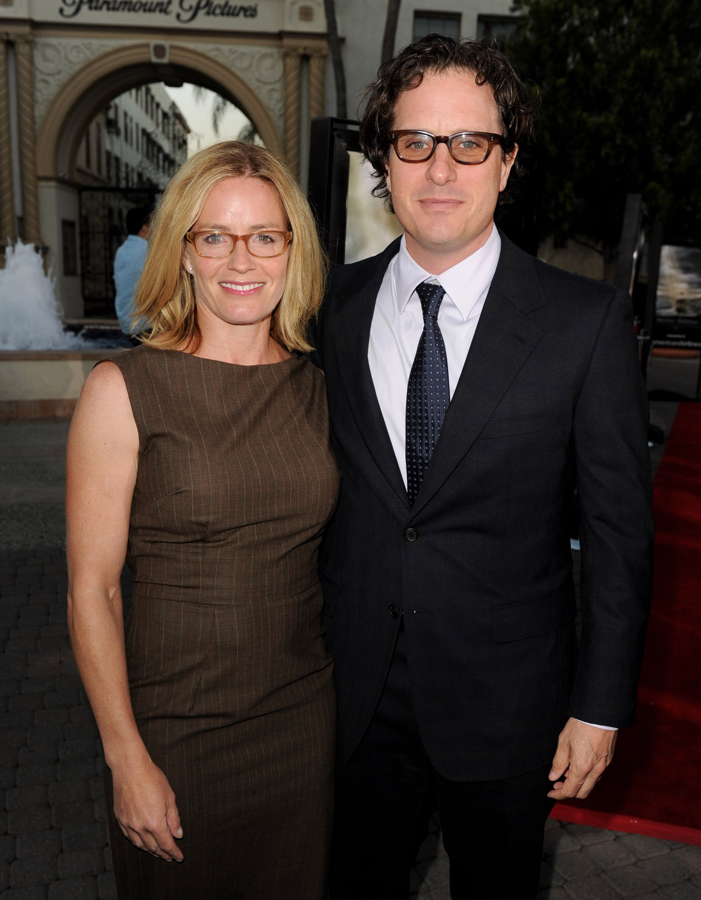 """Elisabeth Shue and Davis Guggenheim at the premiere of """"Waiting for """"Superman"""" at the Paramount Theater on September 20, 2010m in Los Angeles, California. 