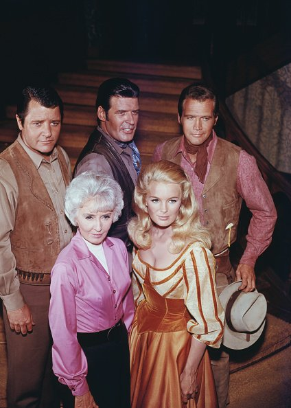 """Cast of """"The Big Valley"""" posing together, circa 1965. 