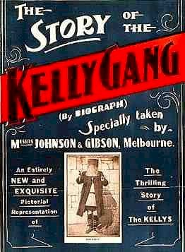 Unknown author, The Story of the Kelly Gang - Poster, marked as public domain, more details on Wikimedia Commons