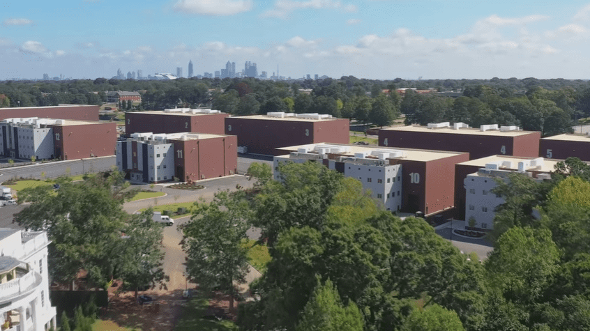 Aereal view of Tyler Perry Studios | Source: YouTube/Architectural Digest