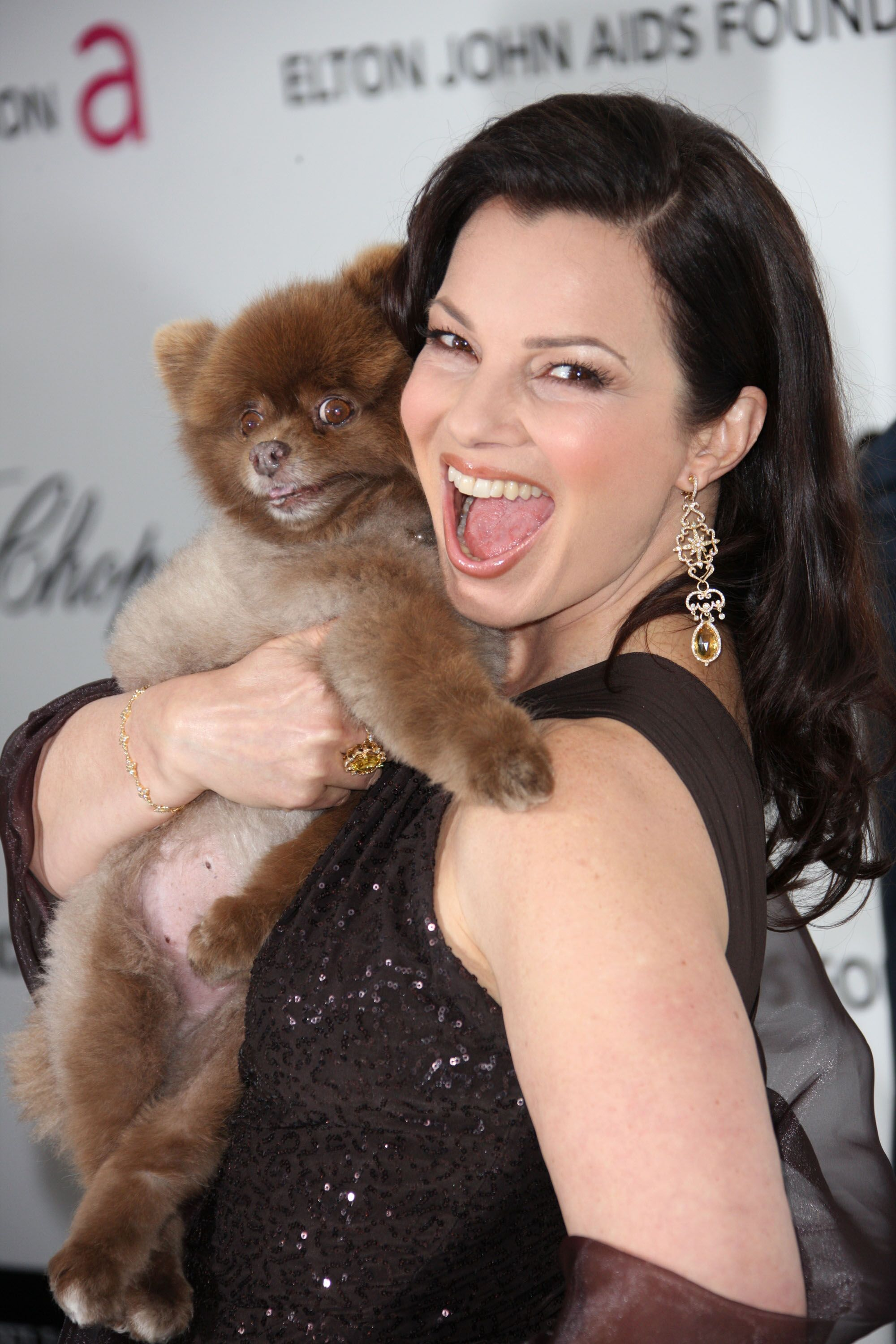 Actress Fran Drescher arrives at the 20th Annual Elton John AIDS Foundation's Oscar Viewing Party  | Getty Images