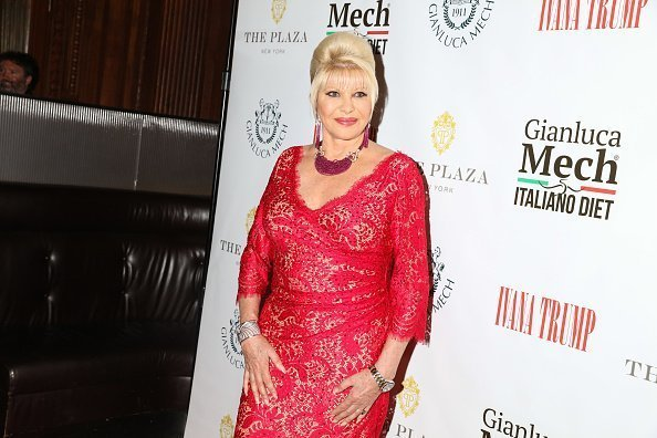 "Ivana Trump poses for photos at the book launch and reception for Ivana Trump and Gianluca Mech's ""The Italiano Diet"" on June 13, 2018 