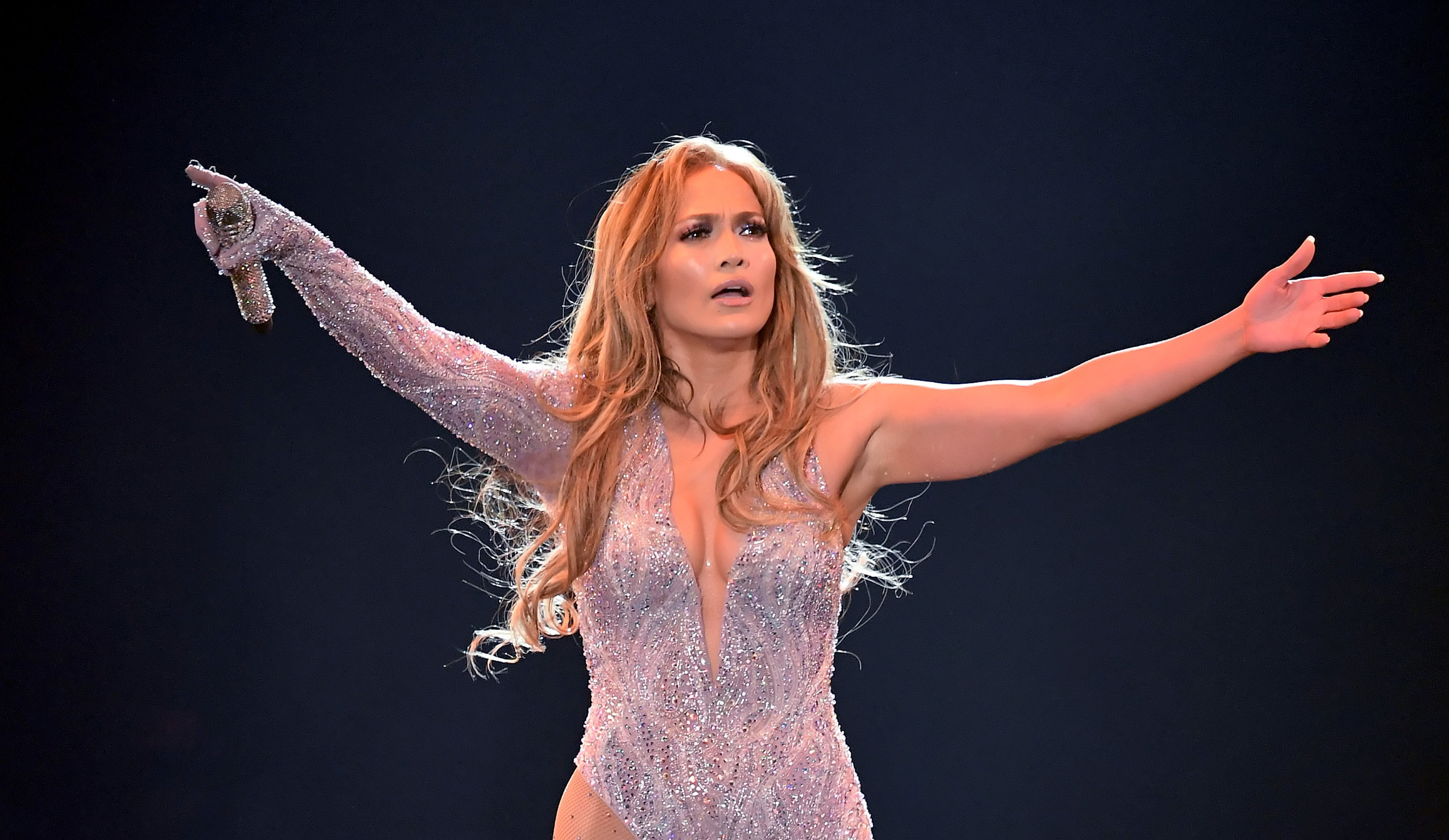 Jennifer Lopez performs onstage during the It's My Party Tour at The Forum on June 07, 2019.   Source: Getty Images