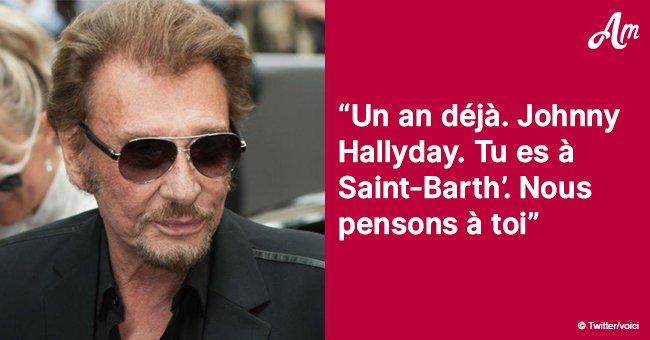 Johnny Hallyday: La légendaire rock-star visite sa tombe et chante une chanson spéciale (Vidéo)